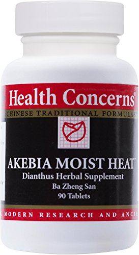 Health Concerns - Akebia Moist Heat - Dianthus Herbal Supplement Ba Zheng San - 90 Tablets