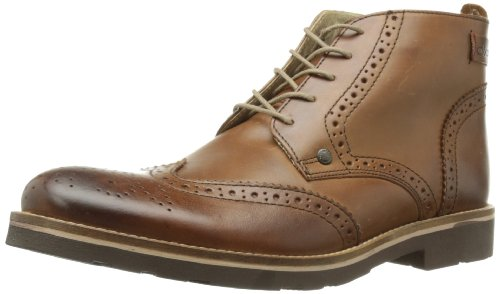 Base London Scarpa Uomo Stivaletto Men Shoe Basket Pelle Traforato Allacciata Tan, 42