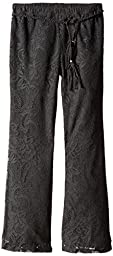 Amy Byer Big Girls\' Lined Lace Pants, Black, Small