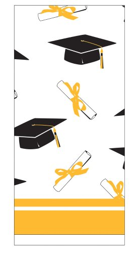 Creative Converting School Colors Paper Art Square Graduation Party Plastic Table Cover, School Bus Yellow
