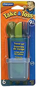The First Years Take & Toss Toddler Flatware Travel Set