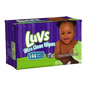 Luvs Baby Wipes Natural Refill 144-Count (Pack of 8)