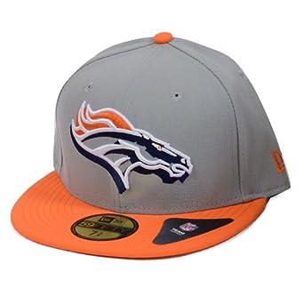 Denver Broncos Neon Logo Pop Fitted Hat - Grey by New Era