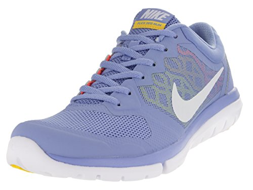 Nike Women's Flex 2015 Rn Chlk Bl/White/Hypr Orng/Vrsty Running Shoe 7.5 Women US