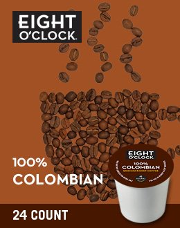 Eight O Clock Coffee, 100% Colombian, 24 Count
