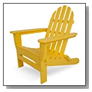 Classic Recycled Plastic Adirondack Chair Lemon
