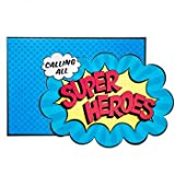 Superhero Birthday Invitations with Envelopes Party Supplies 10 Count