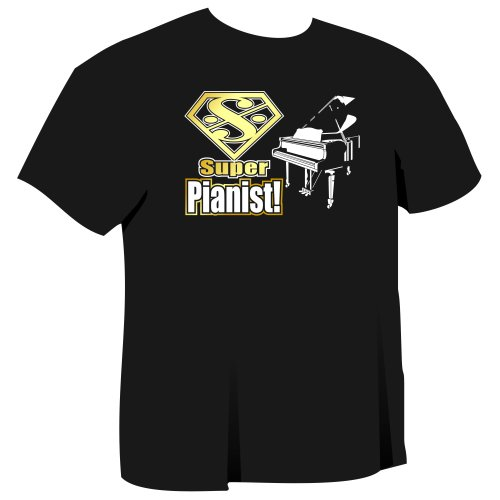 Piano Super - Music T Shirt - 5yrs to 6XL - 9 Colours - MusicaliTee
