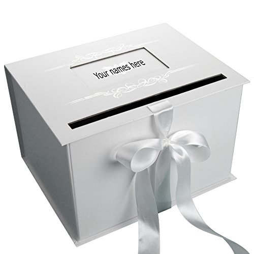 Gift Card Box For Wedding Reception: Decorative Boxes Wedding Gift Card Box Reception White