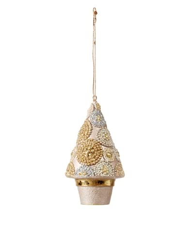 Golden Treasures Two-Tone Christmas Tree Ornament