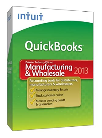 QuickBooks Premier Manufacturing and Wholesale 2013