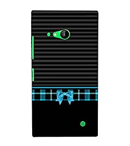 Kitty Bow Knot Pattern 3D Hard Polycarbonate Designer Back Case Cover for Nokia Lumia 730 :: Microsoft Lumia 730 :: Microsoft Lumia 735