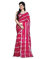 AASRI Women Festival Wear Cotton Blend Printed Zari Border Multicolour Saree - B00O8XW1WA