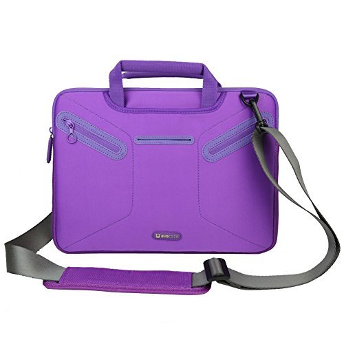 Evecase 12.5 ~ 13.3 inch Ultrabooks/ Laptop / NetBook/ MacBook Multi-functional Neoprene Messenger Case Tote Bag with Handle and Carrying Strap (Purple) (Hp Split X2 11 Inch compare prices)