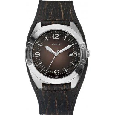 Guess W75052G2 - Reloj con correa de caucho para hombre, color marrón / gris