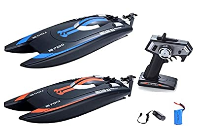 2.4Ghz Racing Boat RC Pool Race Catamaran Trigger Radio Control Mini Mosquito Craft (Color May Vary) by POCO DIVO