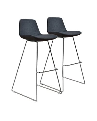 Aeon Furniture Set of 2 Alyssa Barstools, Grey