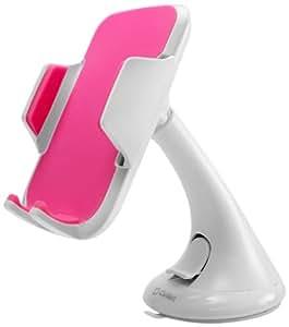 Cellet Car Windshield/Dashboard Universal Phone Holder for Smartphones - White/Pink