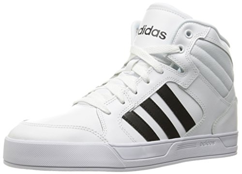 Adidas NEO Women's Raleigh Mid W Fashion Sneaker, White/Black/White, 7.5 M US