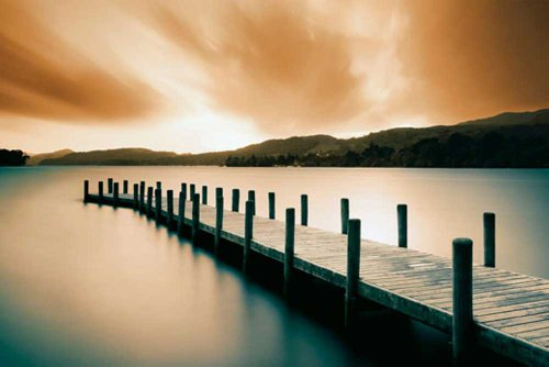 Empire 409270 Wooden Landing Jetty - Colour Poster - 91.5 x 61 cm
