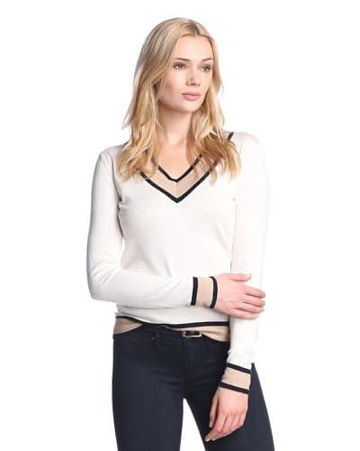 Cullen Women's Colorblock V-Neck Sweater