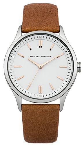 French Connection FC1245C - Reloj para mujeres, correa de cuero color beige