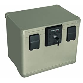 SureSeal by FireKing SS106 Fireproof Waterproof Chest, 0.6 CU FT Storage Capacity, 13.0 x 16.0 x 12.5 Inches