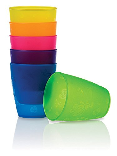 Nuby BPA Free 4 Pack Fun Drinking Cups, 9 Ounce (Pack of 2)