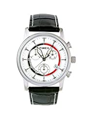 Timex Analogue White Dial Men's Watch - MI00