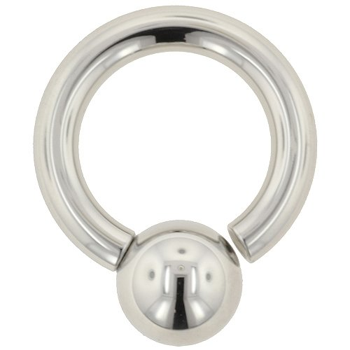 One Stainless Steel Screw On Ball Ring: 6g 3/4