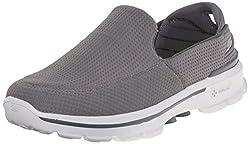 Skechers Mens Go Walk 3 Grey Nordic Walking Shoes - 7 UK/India (41 EU) (8 US)