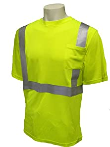buy Global Glove Glo-008Fr Class 2 Modacrylic T-Shirt With 3M Scotchlite Flame Reflective Tape, Extra Large, Lime (Case Of 50)