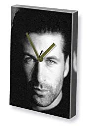 ALEC BALDWIN - Canvas Clock (A4 - Signed by the Artist) #js001