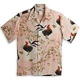 MAKANALEI(マカナレイ) アロハシャツ【鶏&桜】AMT-069/PINK (L)