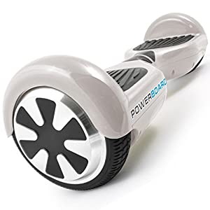 Powerboard by HOVERBOARD - 2 Wheel Self Balancing Scooter with LED Lights - Hands Free Battery Powered Electric Motor - The Perfect Personal Transporter - USA Company,White