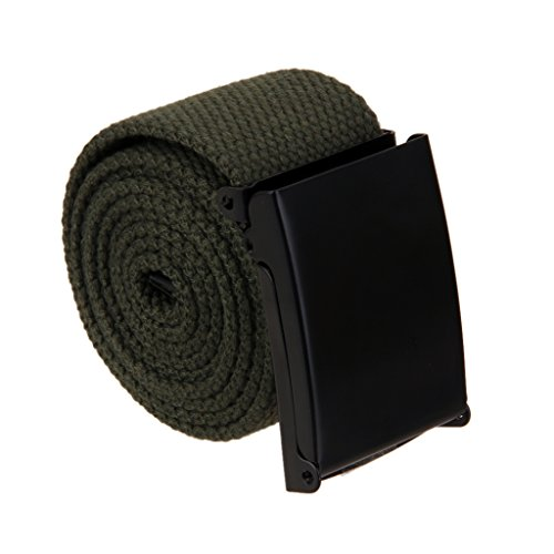 Unisex Nastro Della Cintura Di Tela Sportiva Cintura Casuale - Multicolore - Verde militare, taglia unica