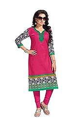 DARPAN TEXTILES Ethnicwear Women's KURTI FABRICS Pink_Free Size