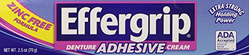 Effergrip Denture Adhesive Cream 2.5 OZ (Denture Adhesive Cream compare prices)