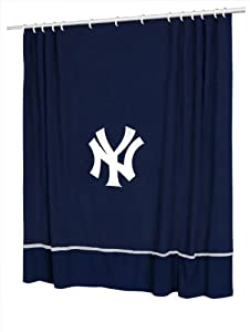 Sports Coverage MLB Sidelines Team Color Shower Curtain by Sports Coverage