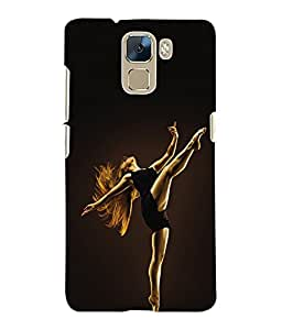 Fuson 3D Printed Dance Designer Back Case Cover for Huawei Honor 7 - D625
