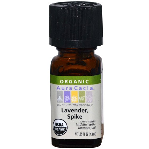 Aura Cacia Organic Essential Oil, Lavender Spike, 0.25 Fluid Ounce