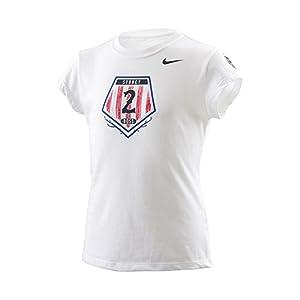 Sydney 'Boss' Leroux U.S. Women's Soccer National Team USWNT Nike Blue Hero T-Shirt - Girls Medium