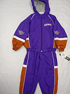 Phoenix Suns Infants Babys Kids 2 pc Purple and Orange Wind Suit hooded jacket and... by Reebok