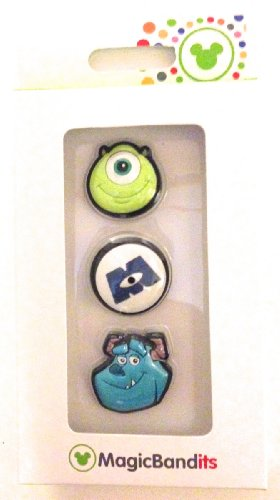 Disney Parks Monsters University Magic Band Bandits Set of 3 Charms