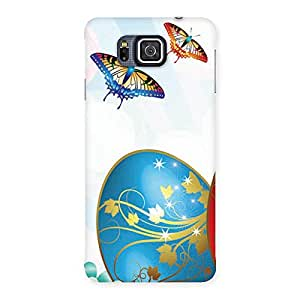 Animated Butterflies Print Back Case Cover for Galaxy Alpha