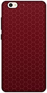 The Racoon Lean RED HONEYCOMB PATTERN hard plastic printed back case / cover for Gionee S6
