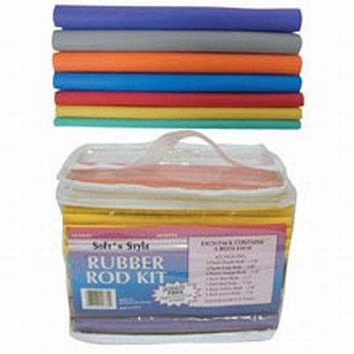 Soft 'N Style 60 Piece Rubber Rod Set