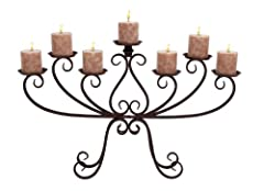 Deco 79 Metal Candelabra, 30 by 19-Inch
