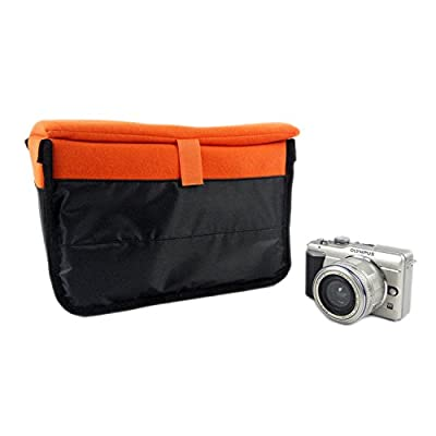 Farmunion New Insert Padded Camera DSLR Inner Folding Divider Partition Protect Case orange