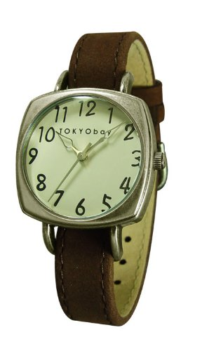 Tokyobay Ladies Ascot Soft Suede Brown Changeable Watch